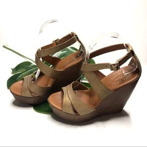Kork-Ease Gracen Brown Strappy Wedge Sandal